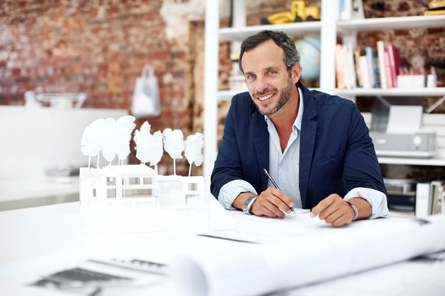 Architect at desk_male
